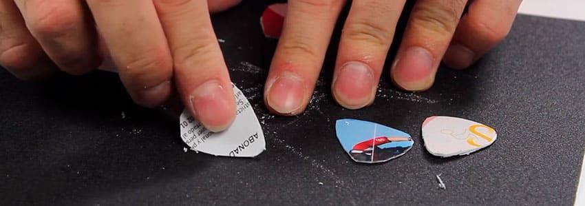 Guía sobre cómo hacer púas de guitarra personalizadas paso a paso