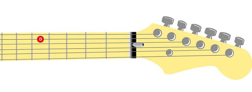 Cómo afinar la cuarta cuerda de una guitarra con afinación estándar