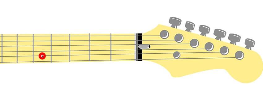 Cómo afinar la primera cuerda de una guitarra con afinación estándar