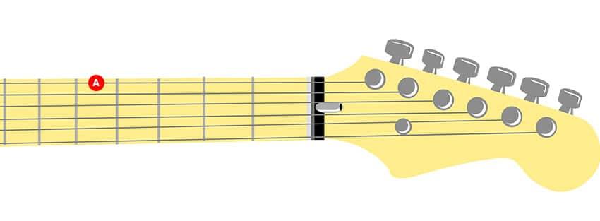 Cómo afinar la quinta cuerda de una guitarra con afinación estándar