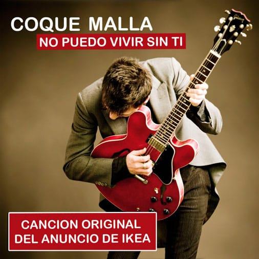 Como tocar guitarra, acordes de No Puedo Vivir Sin Ti de Coque Malla en guitarra